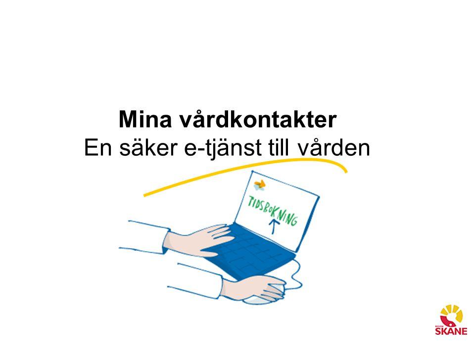 Mina vårdkontakter En säker e-tjänst till vården
