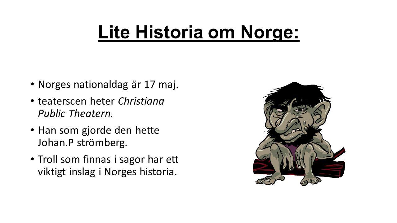 Språk :  95% av Norges befolkning har Norska som modersmål.