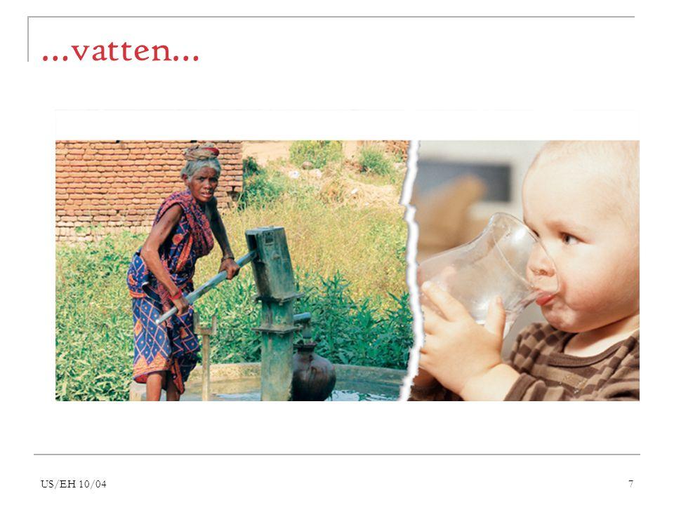 US/EH 10/0418 Världen är en helhet Privatiseringen och handeln med bastjänster berör alla  Hos oss: rika får bättre service, fattiga får sämre service  I u-länderna: de fattigaste har inte längre råd till vatten, skolor och sjukvård