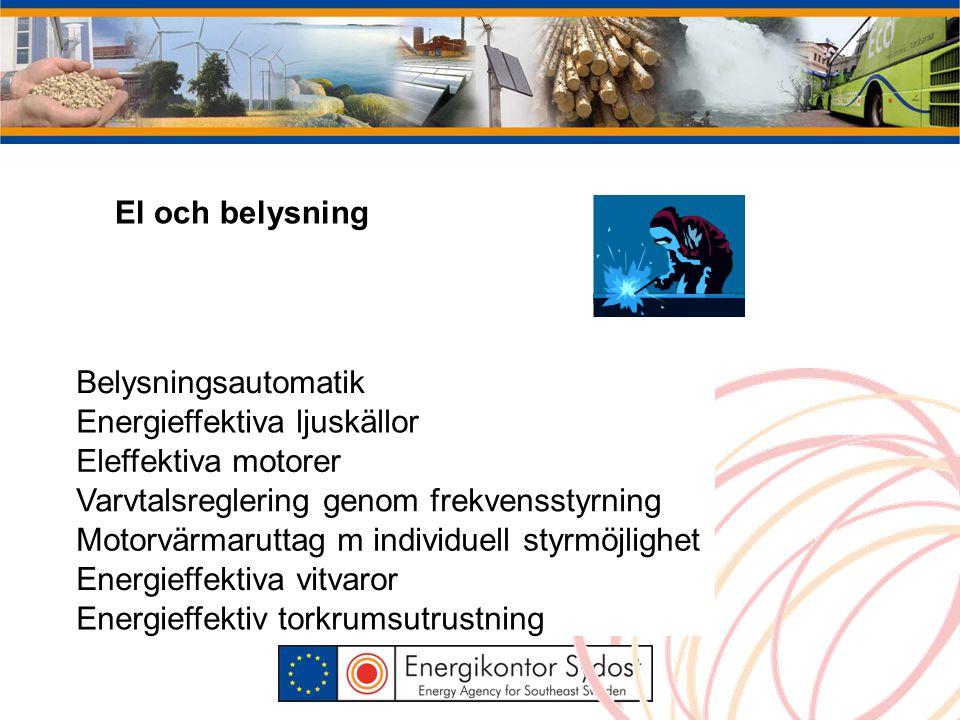 Kylsystem Energieffektiv kylproduktion Frikyla Värmeåtervinning från kylmaskiner
