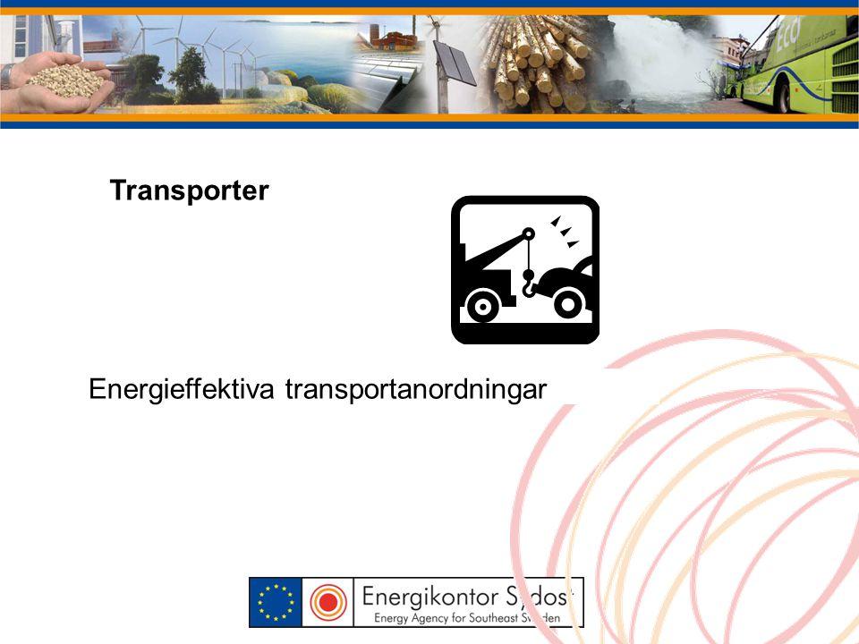 Transporter Energieffektiva transportanordningar