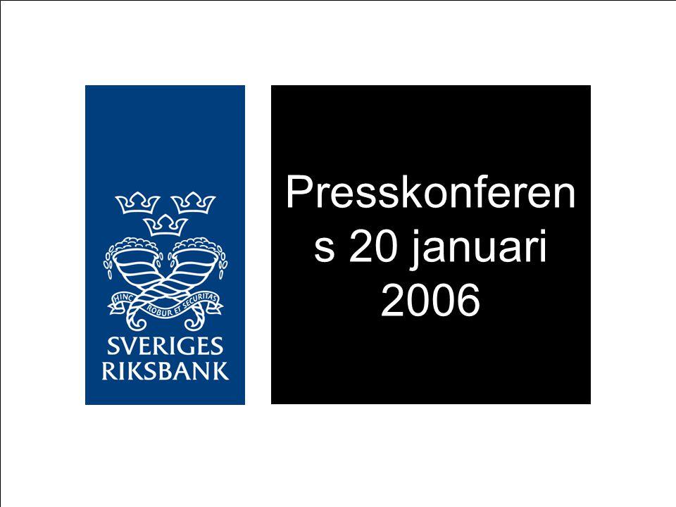 Stark konjunktur, låg men stigande inflation Något starkare tillväxt i omvärlden Något starkare tillväxt i Sverige Ökad sysselsättning Starkare produktivitetstillväxt Högre oljepris Lägre hyreshöjningar