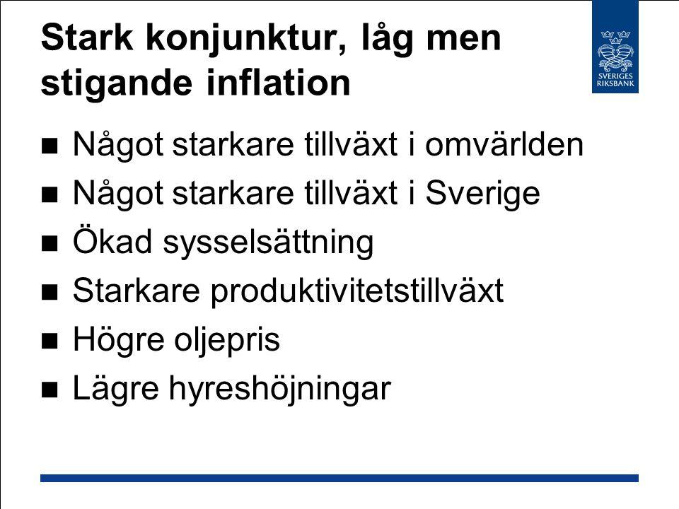 BNP Kvartalsförändring i procent, säsongrensad data Källor: SCB och Riksbanken