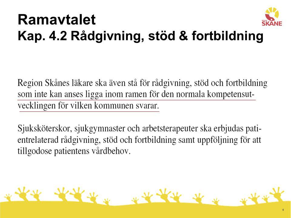 6 Ramavtalet Kap. 4.2 Rådgivning, stöd & fortbildning