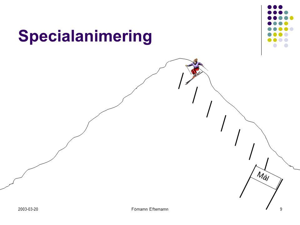 2003-03-20Förnamn Efternamn9 Specialanimering Mål