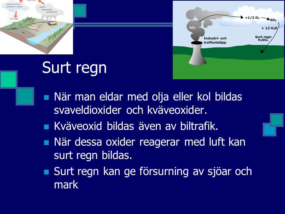 Sura sjöar och sur skog Av Sveriges ca 100 000 sjöar är 4000 starkt försurade.