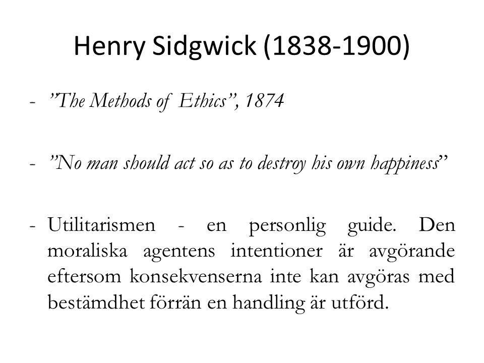 Moderna förespråkare R.M.Hare Peter Singer = välfärd bör inte begränsas till mänsklig välfärd.