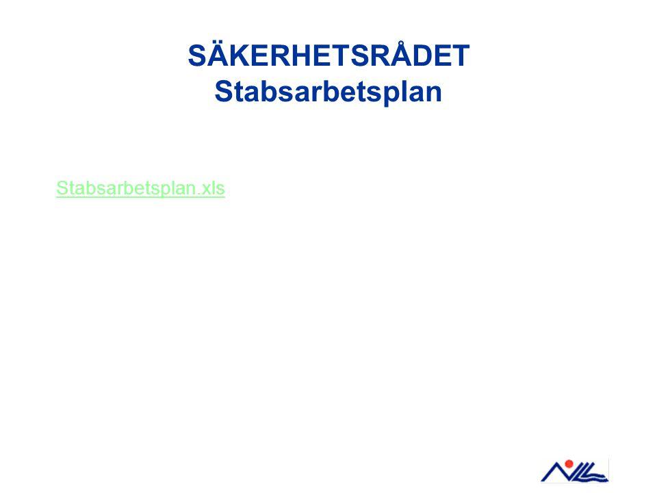 SÄKERHETSRÅDET Stabsarbetsplan Stabsarbetsplan.xls