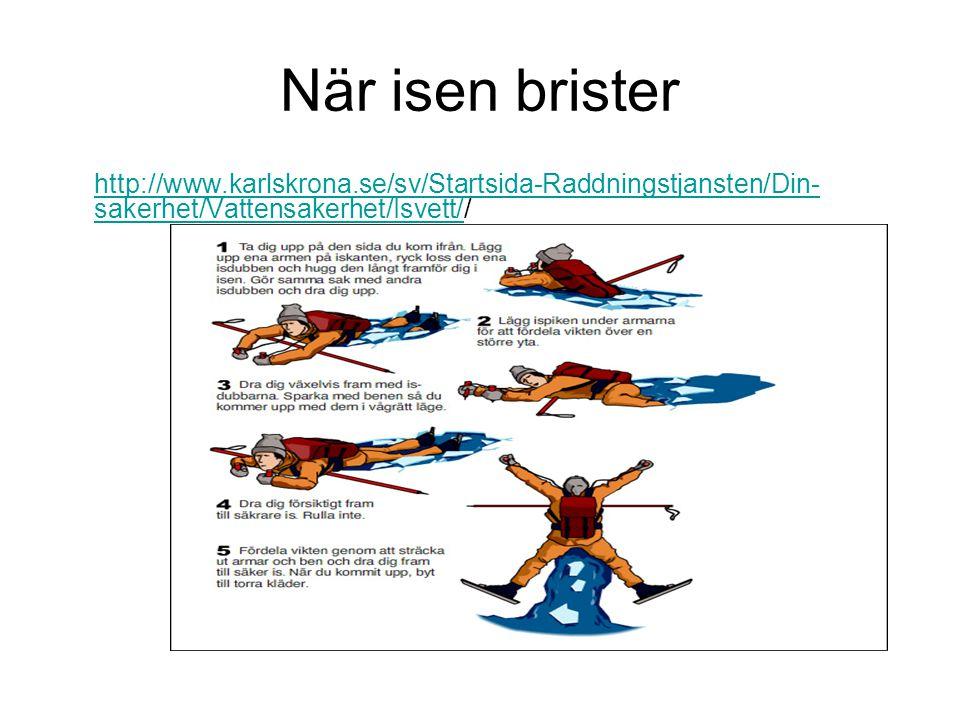När isen brister http://www.karlskrona.se/sv/Startsida-Raddningstjansten/Din- sakerhet/Vattensakerhet/Isvett/http://www.karlskrona.se/sv/Startsida-Rad