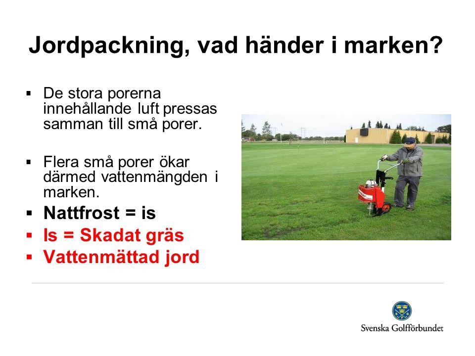 Jordpackning, vad händer i marken.