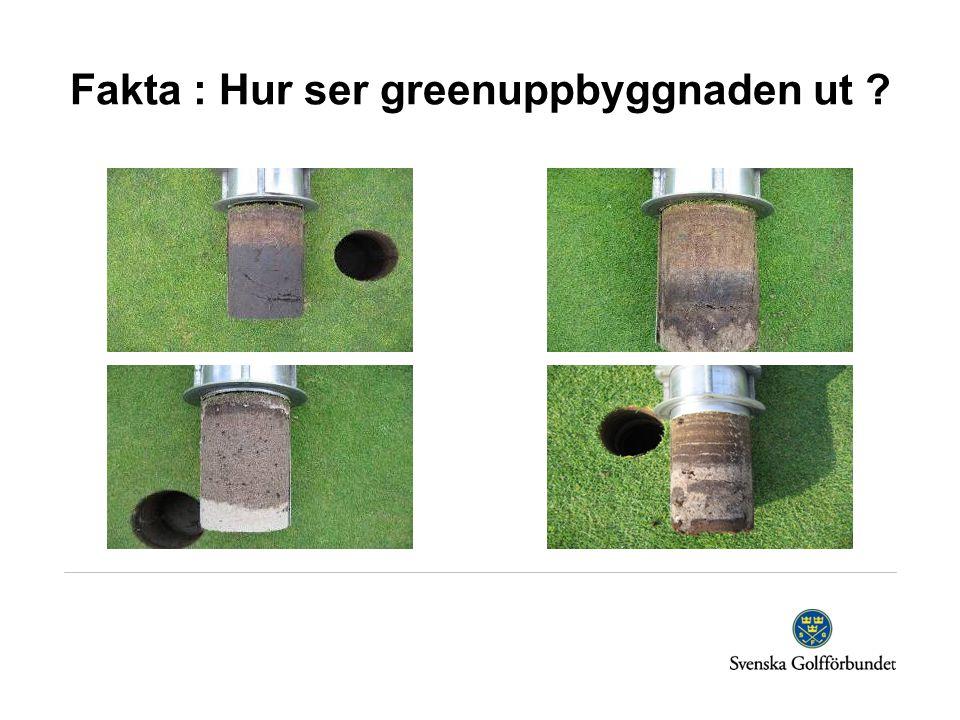 Fakta : Hur ser greenuppbyggnaden ut