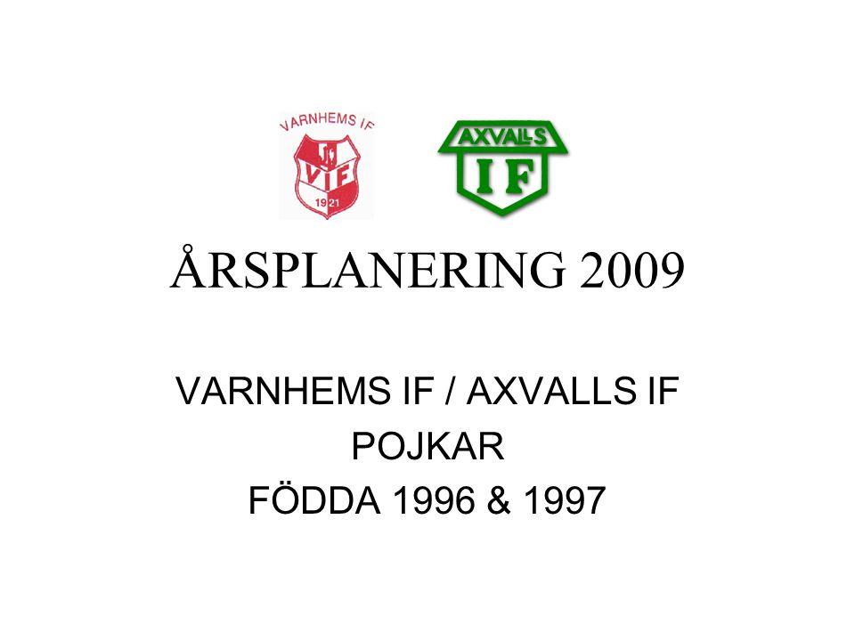 ÅRSPLANERING 2009 VARNHEMS IF / AXVALLS IF POJKAR FÖDDA 1996 & 1997