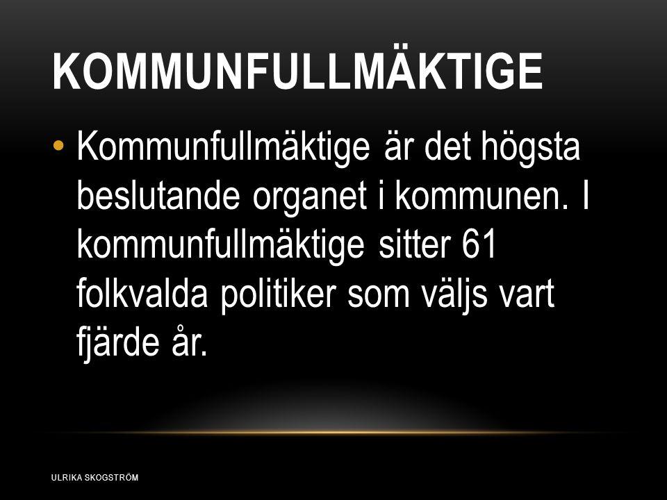 KOMMUNFULLMÄKTIGE Kommunfullmäktige är det högsta beslutande organet i kommunen.