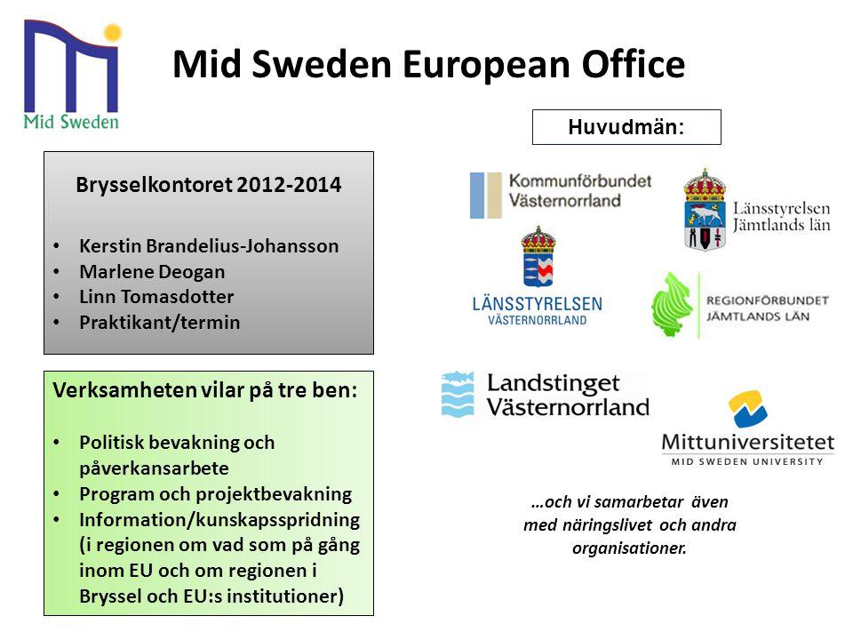 H …och vi samarbetar även med näringslivet och andra organisationer. Brysselkontoret 2012-2014 Kerstin Brandelius-Johansson Marlene Deogan Linn Tomasd