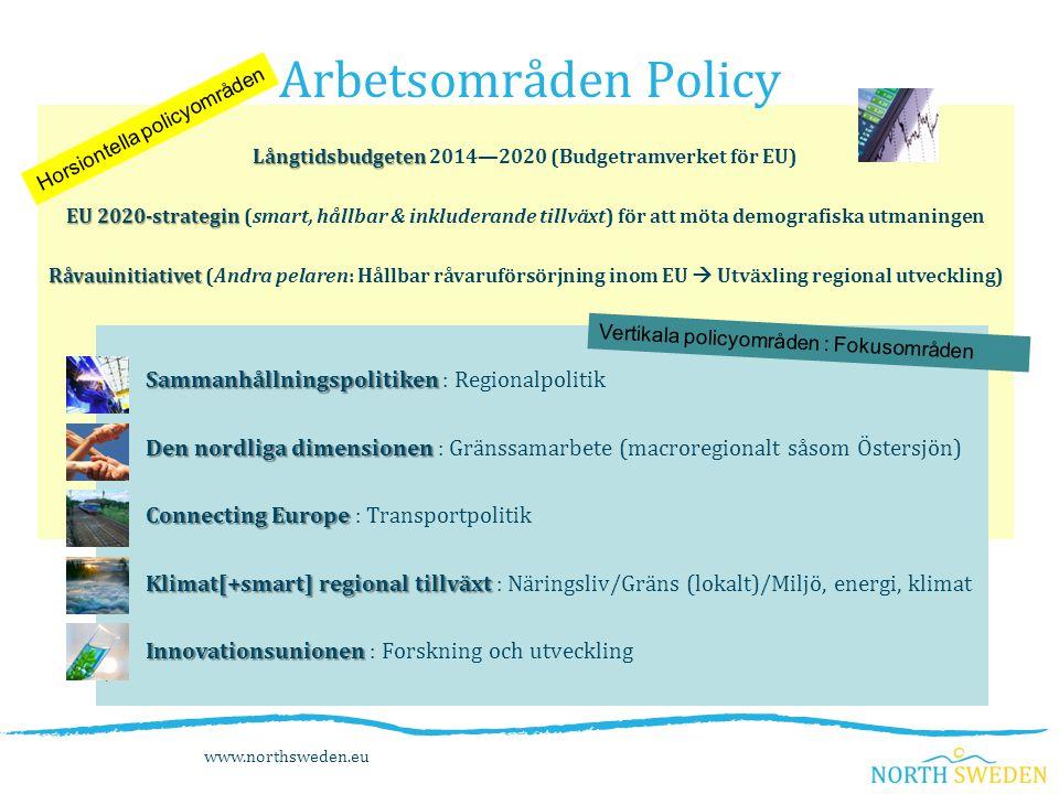 Långtidsbudgeten Långtidsbudgeten 2014—2020 (Budgetramverket för EU) EU 2020-strategin EU 2020-strategin (smart, hållbar & inkluderande tillväxt) för