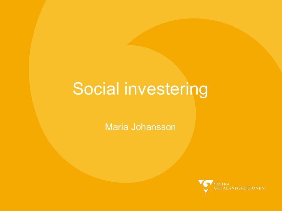 Social investering Maria Johansson