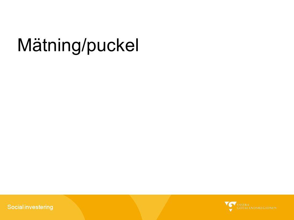 Social investering Mätning/puckel