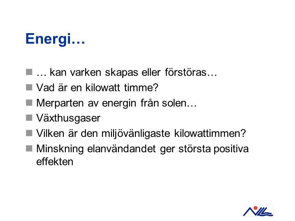 …samt som med värmeförbrukningen Infört energiledningssystem med tillhörande policies och styrdokument.