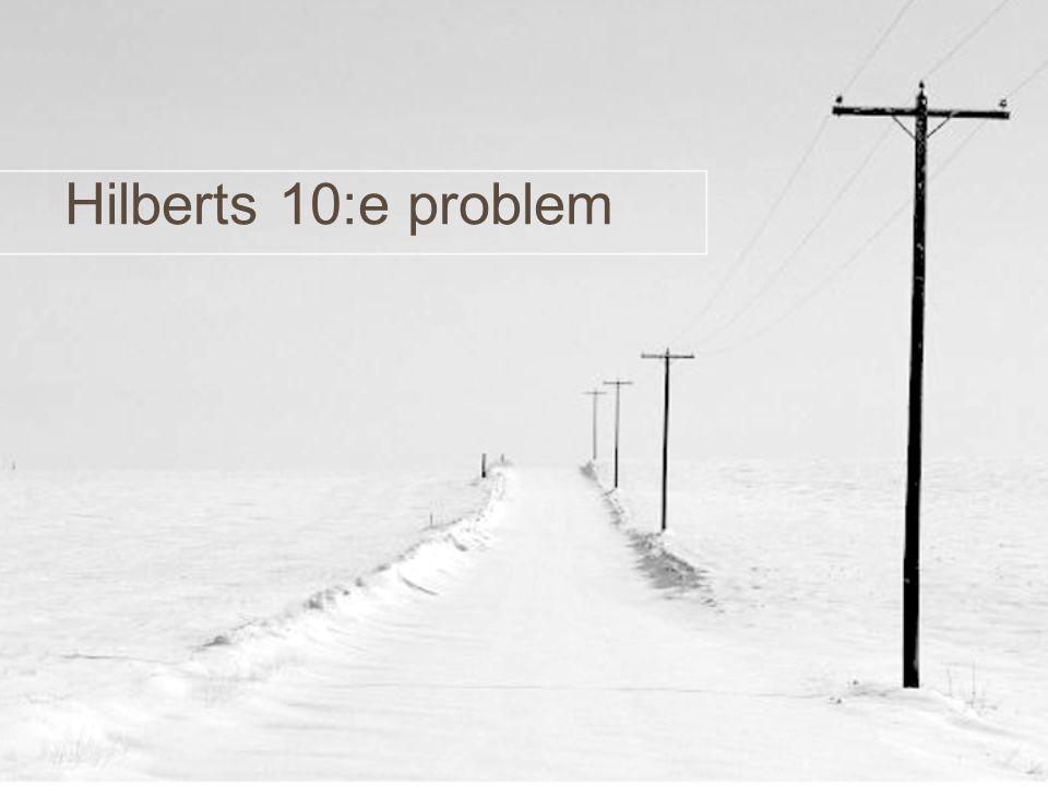 Hilberts 10:e problem