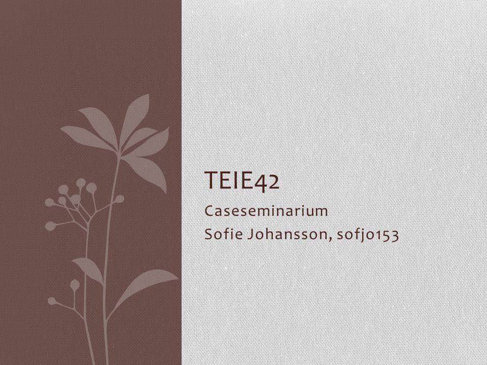 Caseseminarium Sofie Johansson, sofjo153 TEIE42