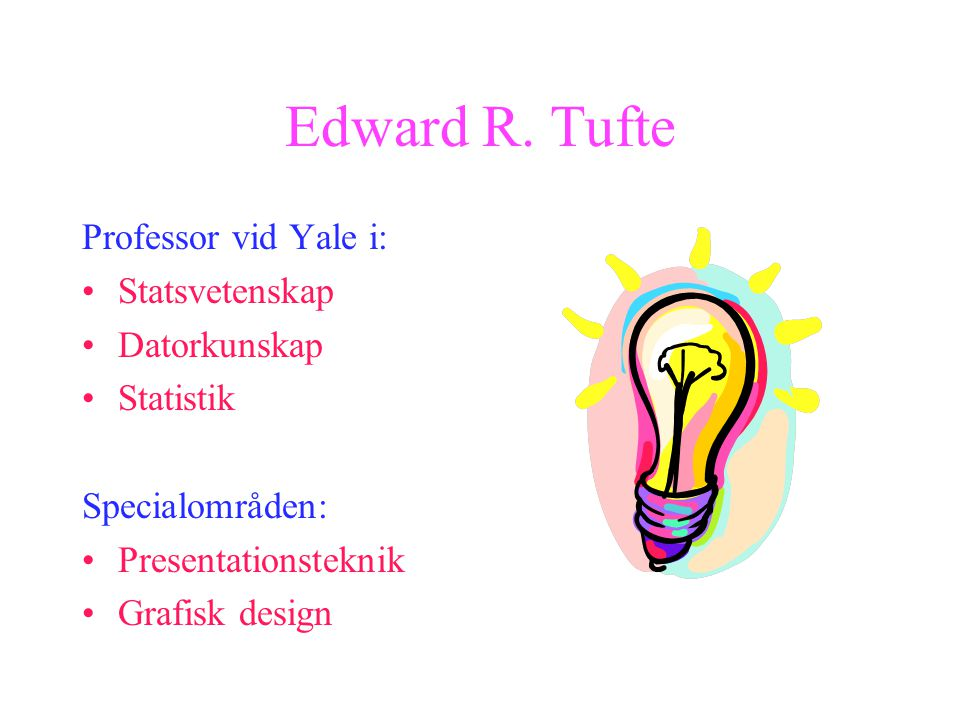 Power Point gör dig dum anser Yaleprofessorn Edward R. Tufte