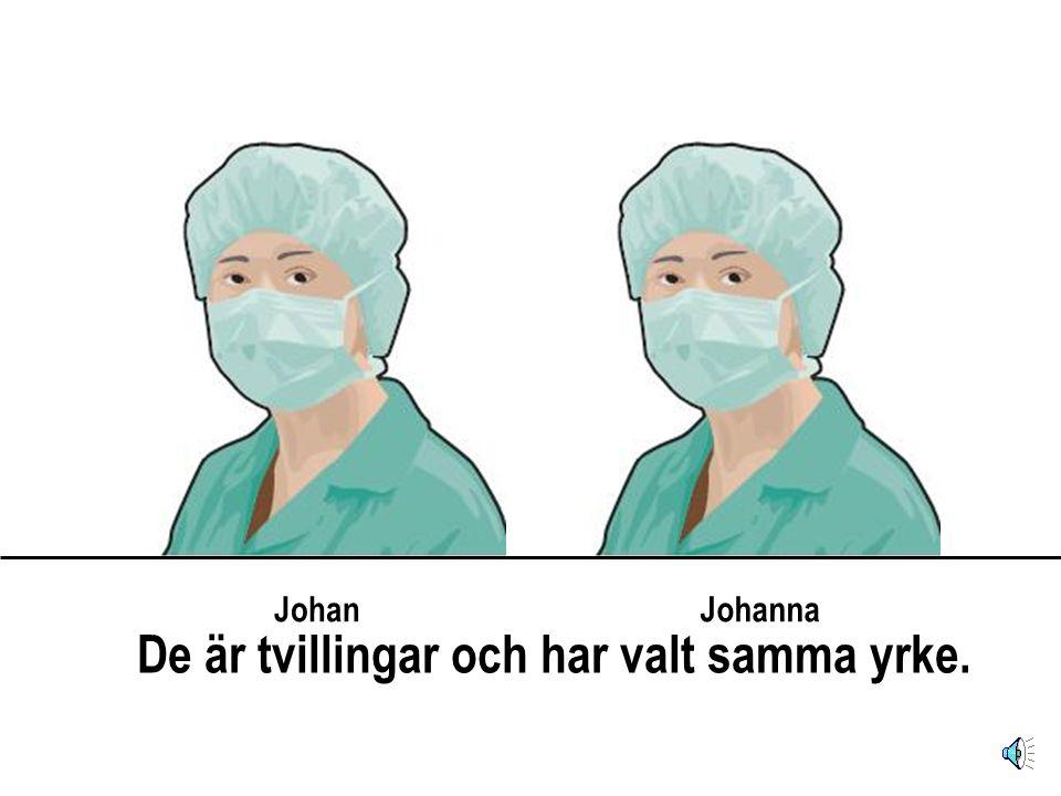 JohanJohanna De är tvillingar och har valt samma yrke.