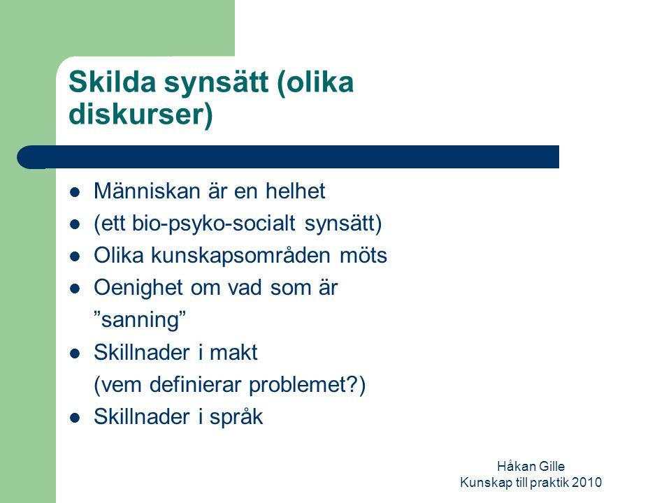 Håkan Gille Kunskap till praktik 2010 Begrepp……..