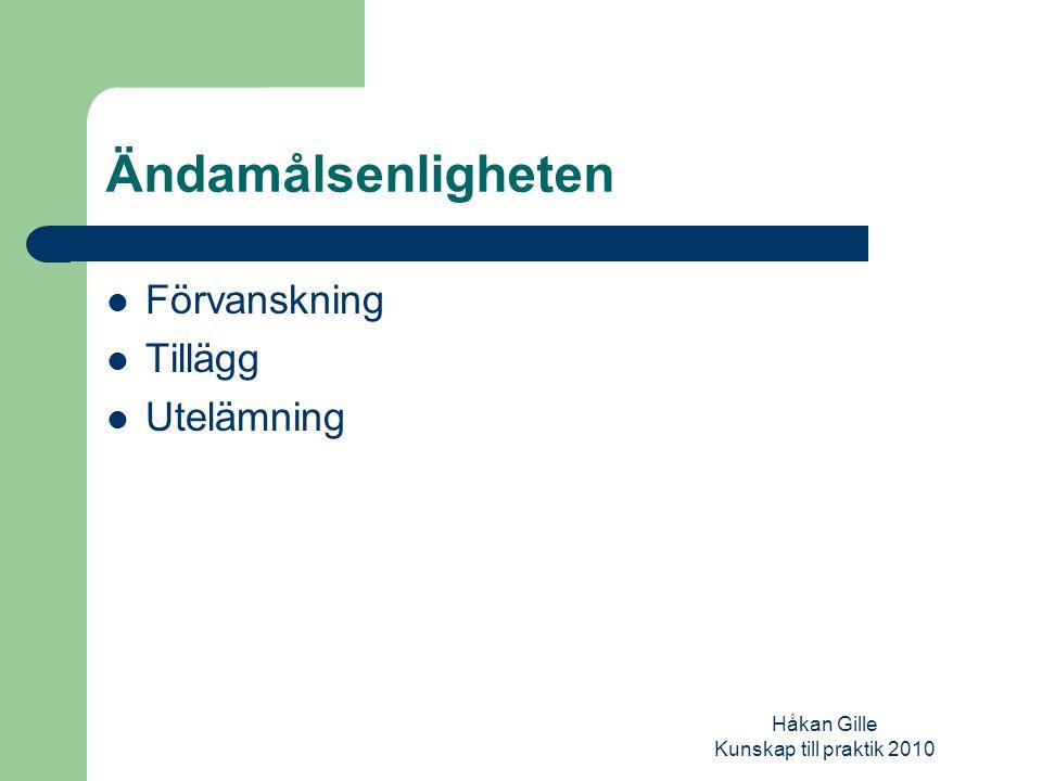 Håkan Gille Kunskap till praktik 2010 Epistemisk drift