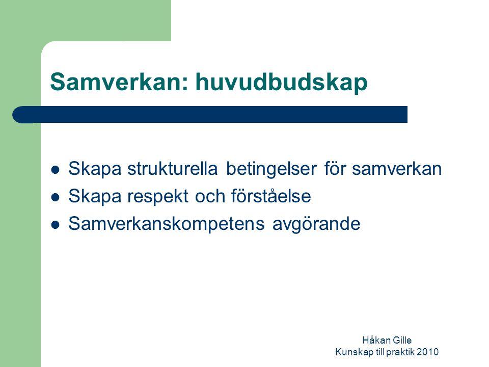 Håkan Gille Kunskap till praktik 2010 Specialisering & fragmentarisering Tydligast märks /emellertid/ specialiseringstrenden inom barnavården och missbruksområdet, där åtta av tio klienter i dag kommer i kontakt med specialiserade enheter. (Bergmark et al.