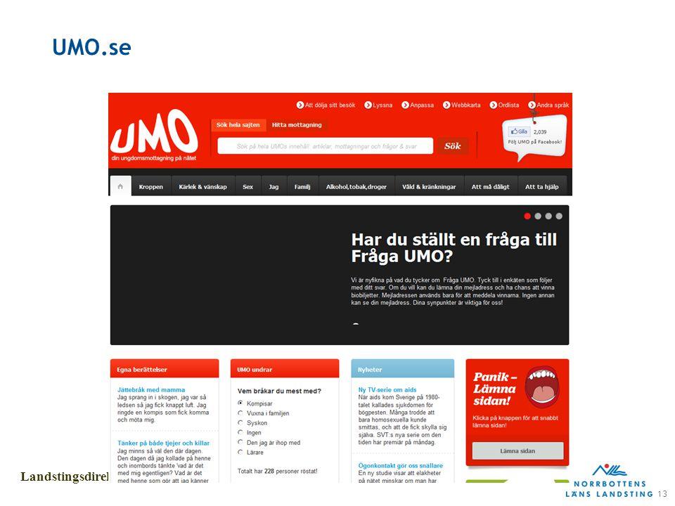 13 Landstingsdirektörens stab UMO.se