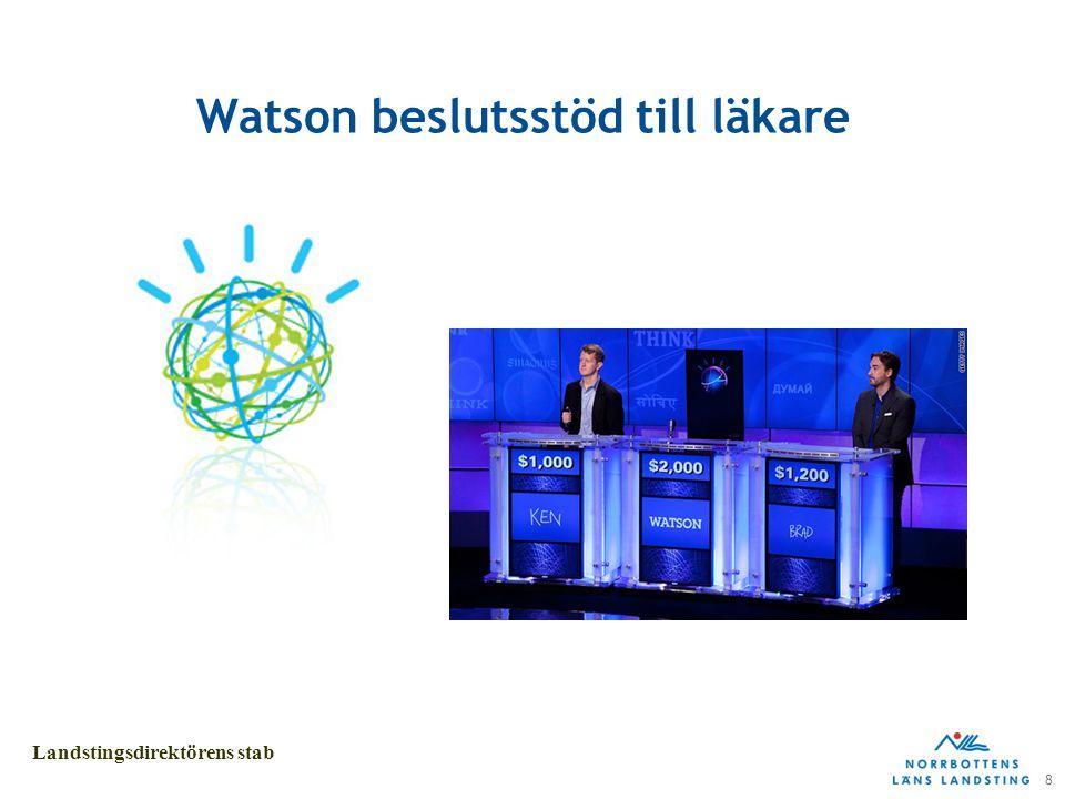 8 Landstingsdirektörens stab Watson beslutsstöd till läkare