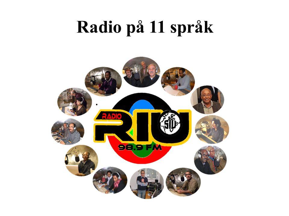 Radio på 11 språk.