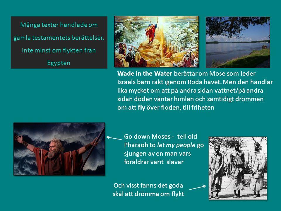 Wade in the Water berättar om Mose som leder Israels barn rakt igenom Röda havet. Men den handlar lika mycket om att på andra sidan vattnet/på andra s
