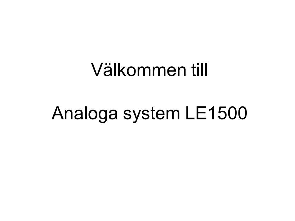 Välkommen till Analoga system LE1500