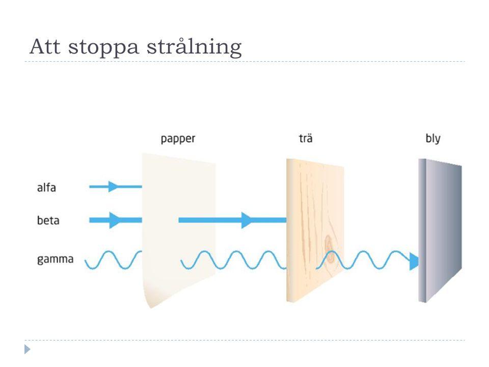 Att stoppa strålning