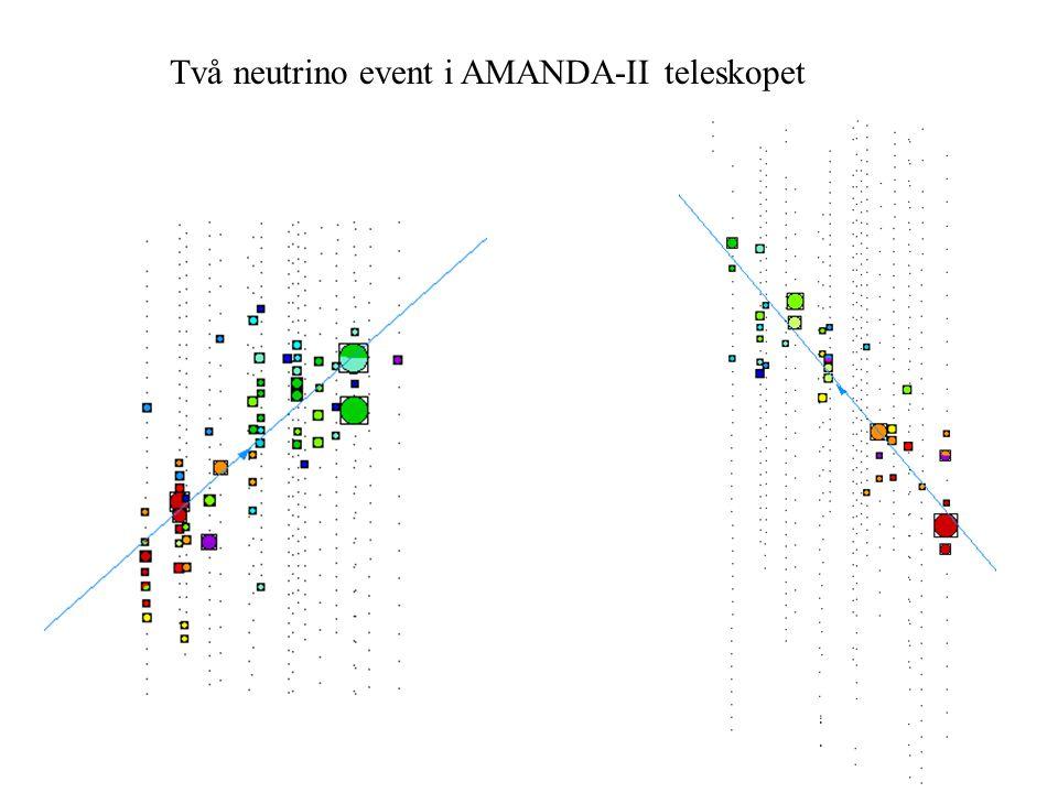 Två neutrino event i AMANDA-II teleskopet