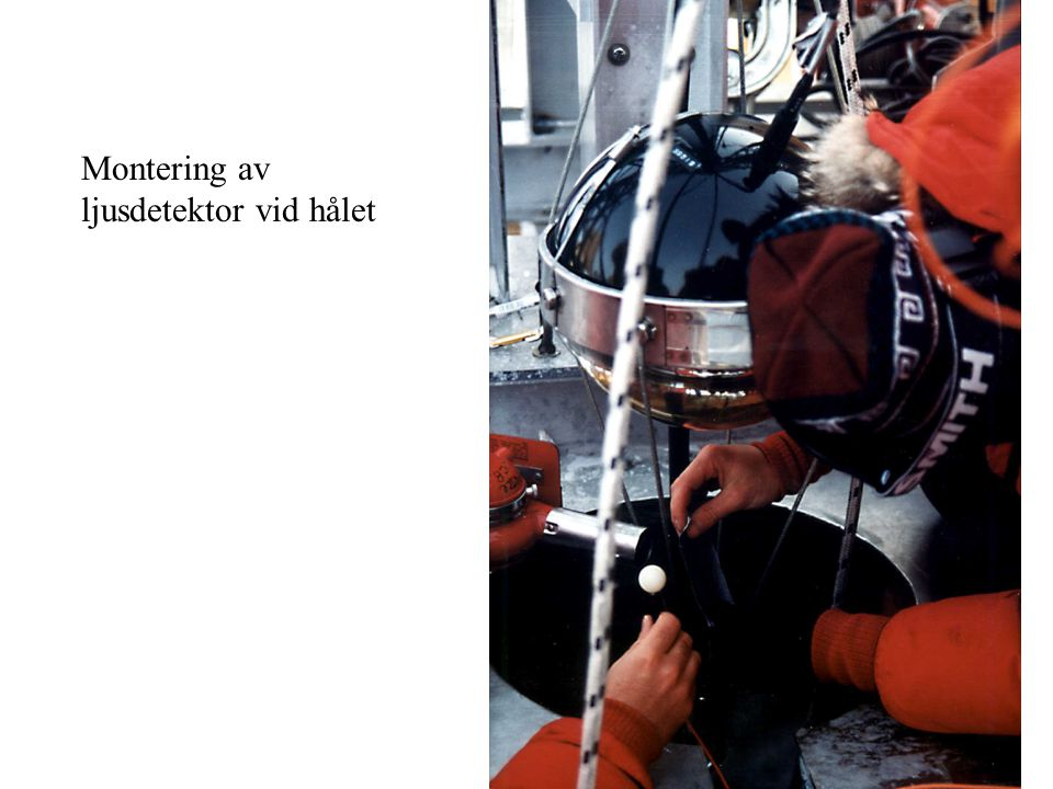 Montering av ljusdetektor vid hålet