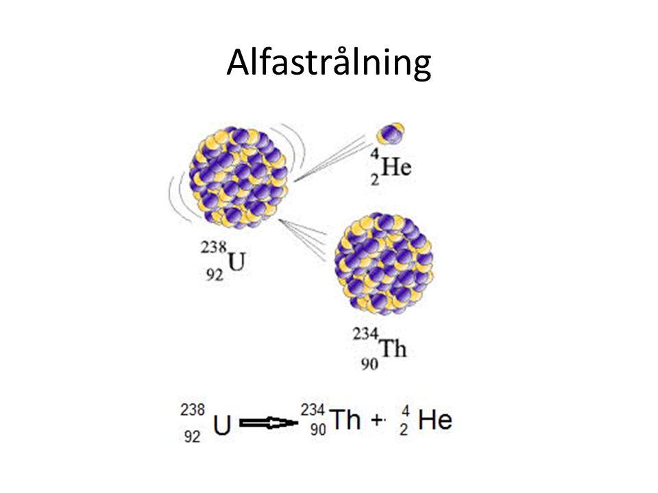 Alfastrålning