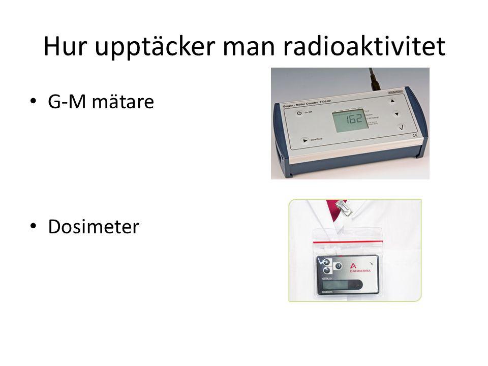 Hur upptäcker man radioaktivitet G-M mätare Dosimeter