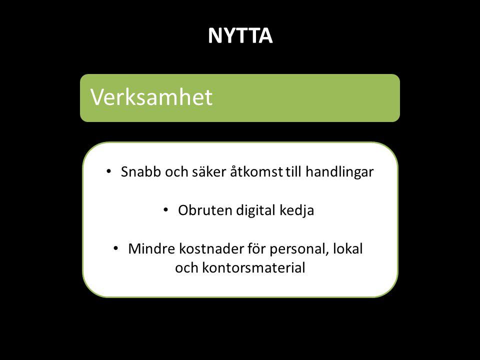NYTTA IT Avveckling av äldre system (Drift, support) Plattform för tjänster Effektiv systemförvaltning
