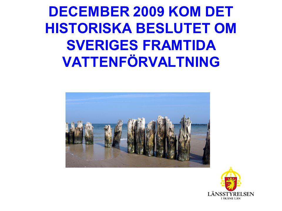 EU - LAGSTIFTNING INOM VATTENFÖRVALTNINGEN Ramdirektivet för vatten,2000/60/EG, övergripande för andra EG-direktiv inom vattenområdet Dotterdirektivet d v s, Miljökvalitetsnormer för prioriterade ämnen, 2008/105/EG.