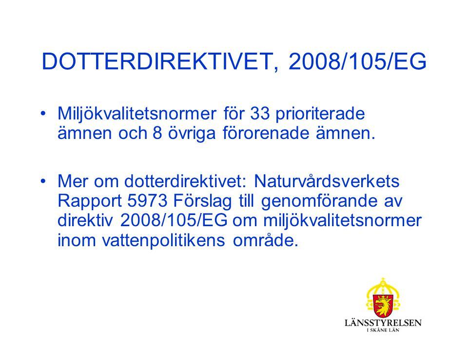 RAMDIREKTIVET I SVENSK LAGSTIFTNING Implementerat i miljöbalken, bl a 5 kap.