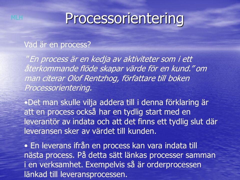 Processorientering Vad är en process.