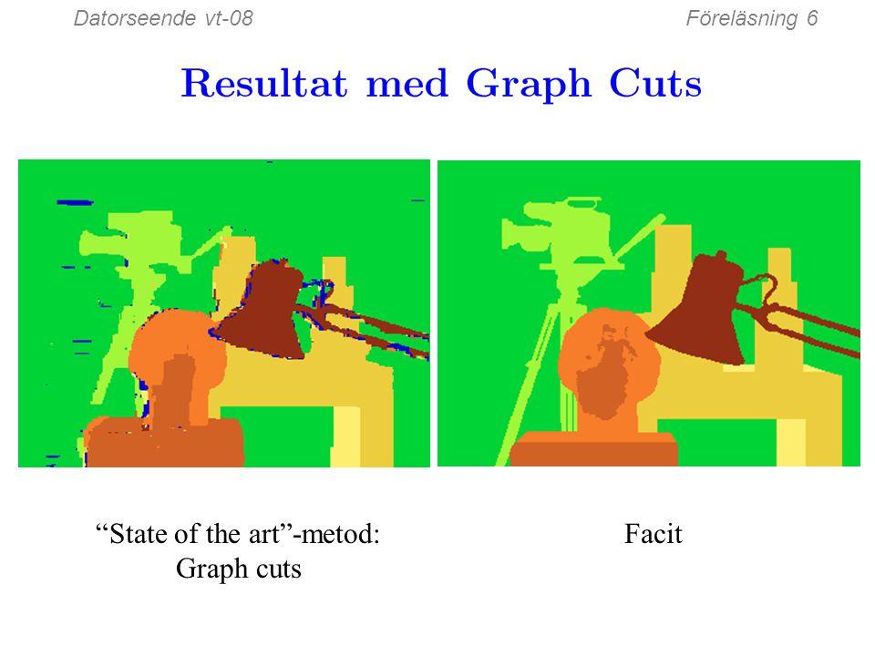 Datorseende vt-08Föreläsning 6 Fönster-baserad matchning (bästa fönsterstorlek) Facit