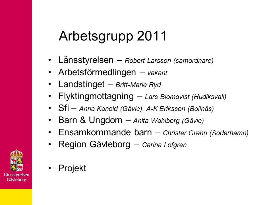 Ensamkommande barn i Gävleborg Ankomstkommun: Gävle 7 anvisningskommuner Regionalt samarbete