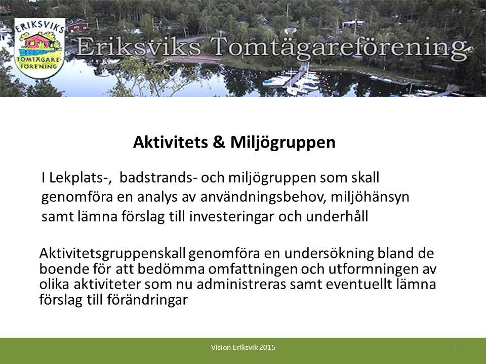 I Lekplats-, badstrands- och miljögruppen som skall genomföra en analys av användningsbehov, miljöhänsyn samt lämna förslag till investeringar och und