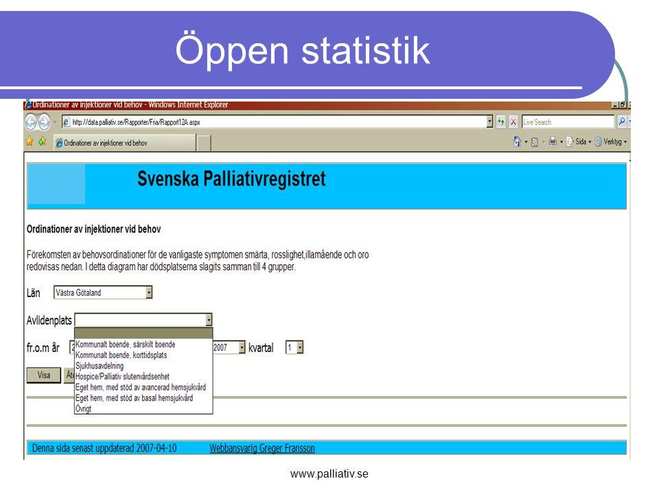 www.palliativ.se Öppen statistik