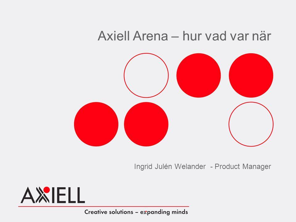 Axiell Arena – hur vad var när Ingrid Julén Welander - Product Manager