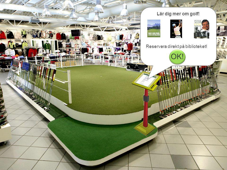 Lär dig mer om golf! Reservera direkt på biblioteket! OK!