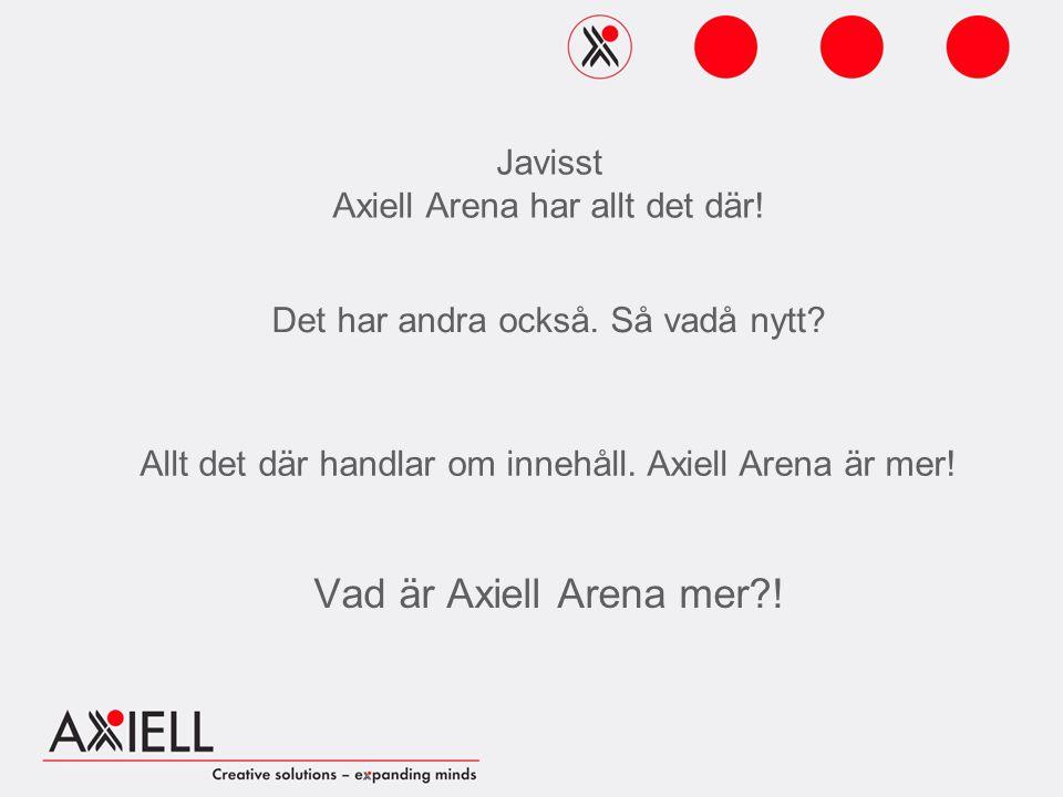 Vad är Axiell Arena mer . Det har andra också. Så vadå nytt.